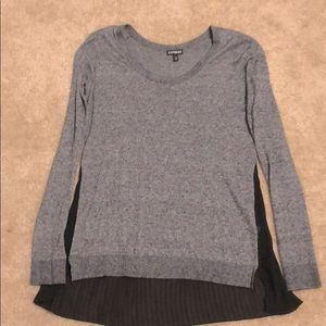 Express Sweater with Black flowing detail